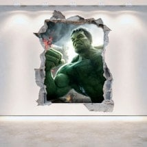 3D wall vinyls broken Hulk