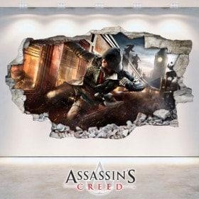 Vinyl wall broken 3D Assassin's Creed