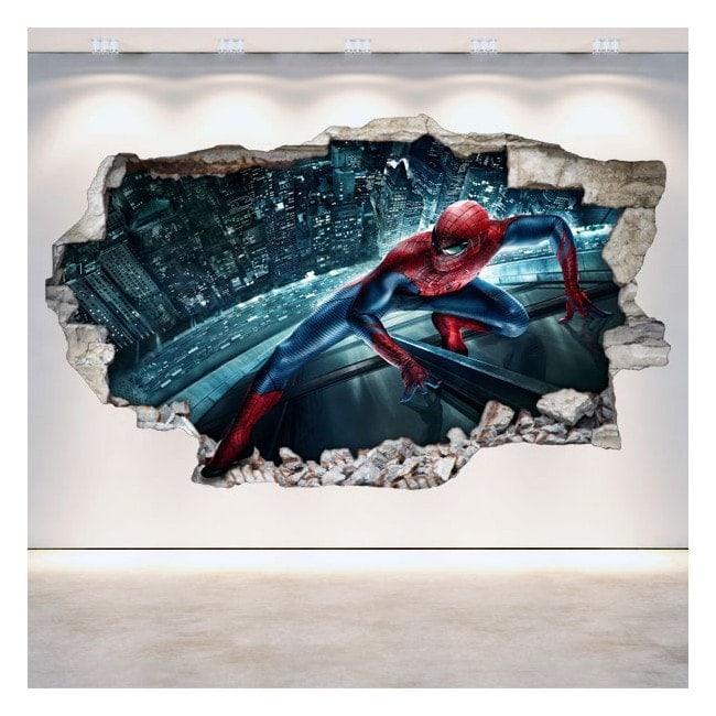3D wall vinyls broken Spiderman
