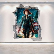 3D wall-broken vinyl Captain America