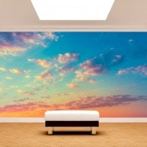 Photo wall murals clouds in the sky