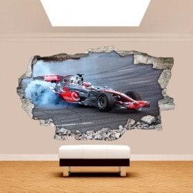 Vinyl wall broken 3D Formula 1