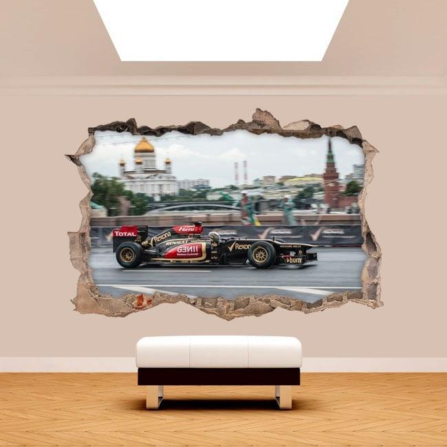 Vinyl 3D wall-broken Formula 1