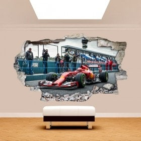 Vinyl wall 3D rotating car Formula 1