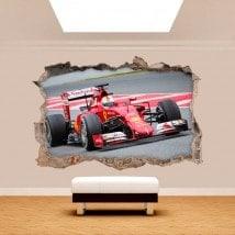 3D vinyl hole wall Formula 1