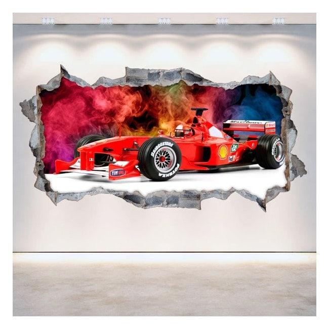Vinyl 3D Formula 1 hole wall