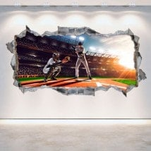 3D wall-broken vinyl baseball