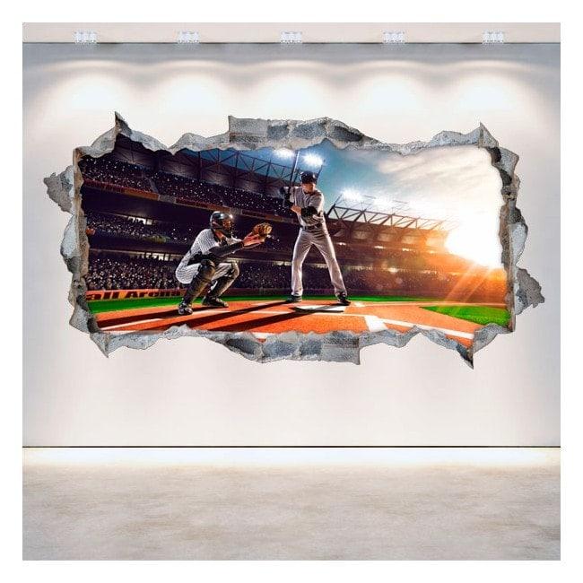 3D wall-broken vinyl baseball