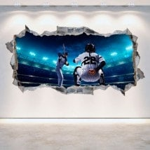 Vinyl hole wall 3D baseball