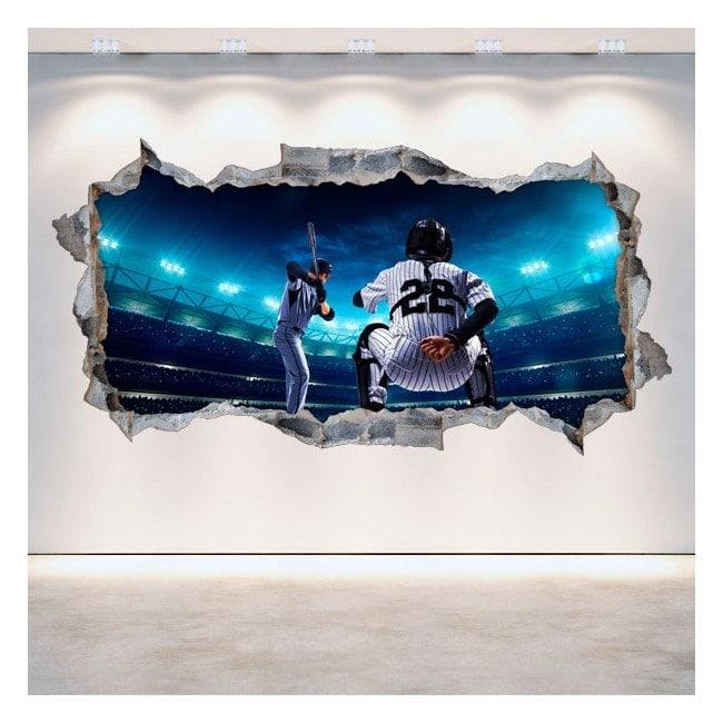 Vinyl hole wall 3D baseball