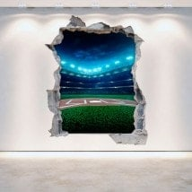Vinyl wall broken Baseball 3D English 5287