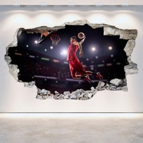 Vinyl hole wall basketball 3D