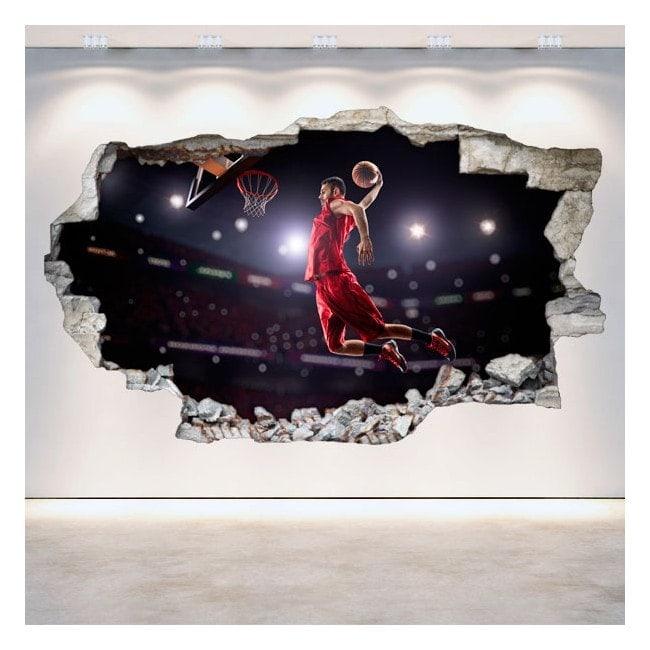 Vinyl hole wall basketball 3D