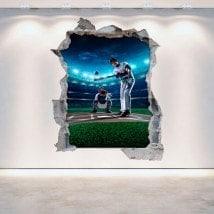 Vinyl wall broken Baseball 3D