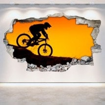 Vinyl bike mountain 3D