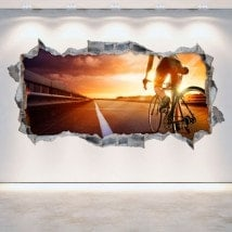 3D cycling vinyl hole wall