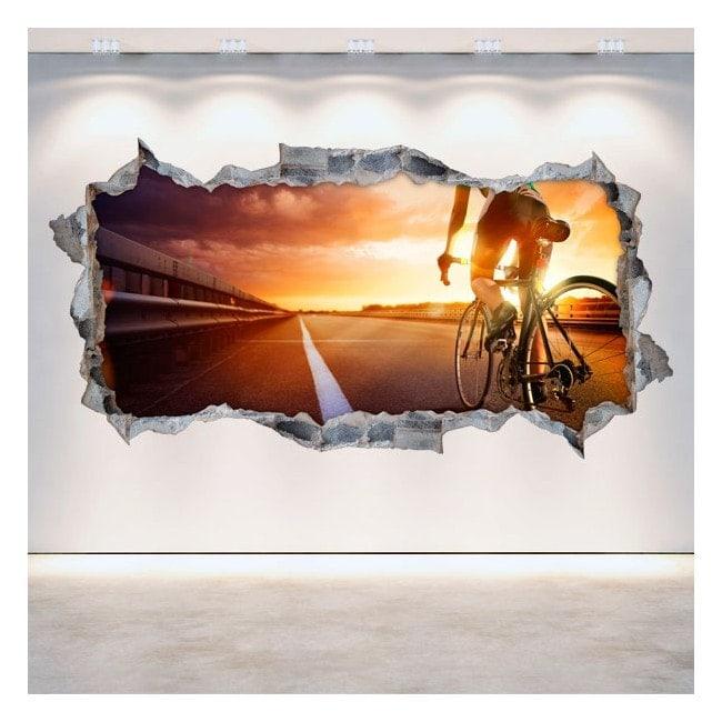 3D cycling vinyl hole wall