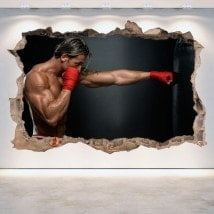Vinyl wall-broken 3D boxing