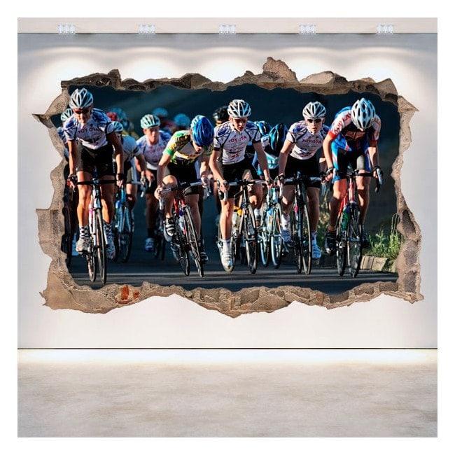 Vinyl cycling broken 3D wall