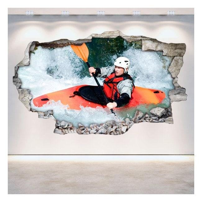 Vinyl Rafting kayaking broken 3D wall