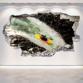 3D wall vinyls broken Rafting kayaking