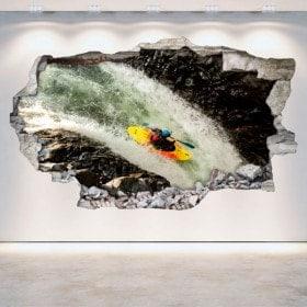 3D wall vinyls broken Rafting kayaking