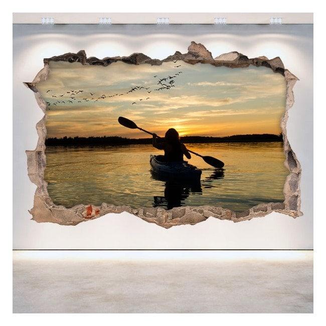 Vinyl wall broken 3D Kayak