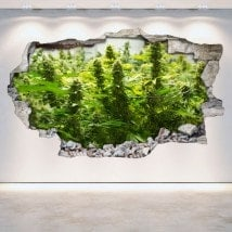 Vinyl Cannabis broken 3D wall