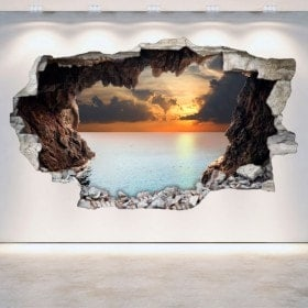 Vinyl wall broken caves 3D