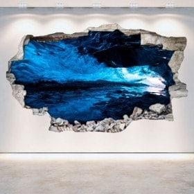 Vinyl wall-broken caves 3D