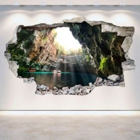 Vinyl grottoes and caves broken wall 3D