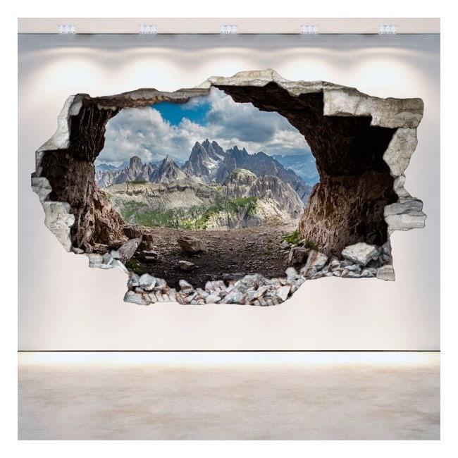 Vinyl caves 3D wall-broken