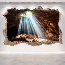 Vinyl grottoes and caves 3D hole wall