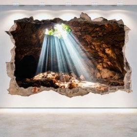 Vinyl 3D grottoes and caves hole wall