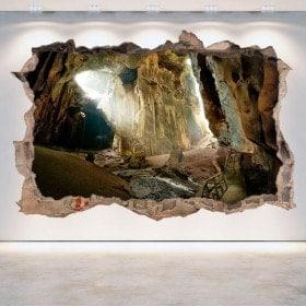 Vinyl 3D caves hole wall