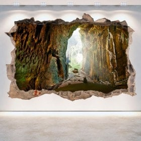 Decorative vinyl wall-broken caves 3D