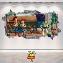 Decorative vinyl Toy Story 3 wall broken 3D
