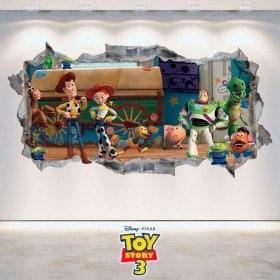Vinyl decorative Toy Story 3 wall broken 3D