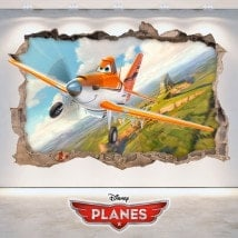 Children's vinyl Dusty planes 3D
