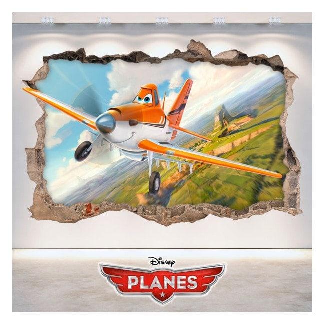 Children's vinyl Dusty planes 3D