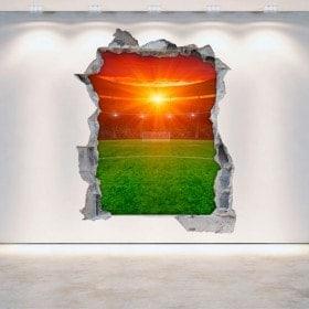 Vinyl football stadium broken 3D wall