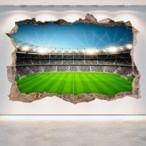 Vinyl football stadium broken 3D wall