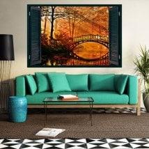 Windows 3D bridge over Lake