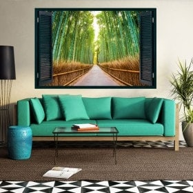 Windows 3D road and bamboos