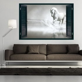 Windows 3D white horse