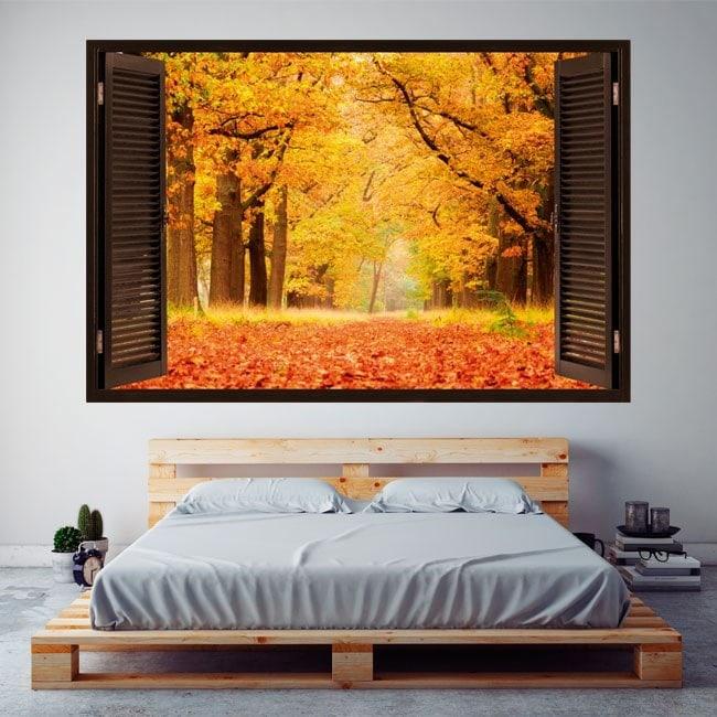 Windows 3D trees in autumn