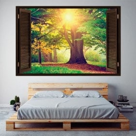 3D tree in the forest window