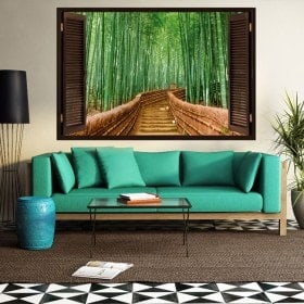 3D bamboo window ladders