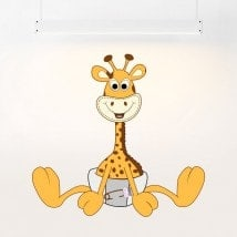 Vinyl children's giraffe in diapers