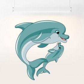 Vinyl children's dolphins